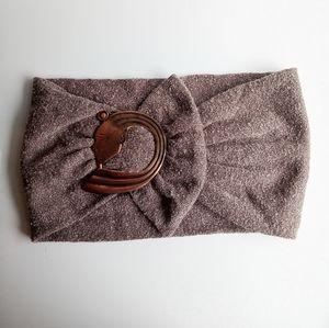 Vintage Cloth Belt with Bronze Buckle